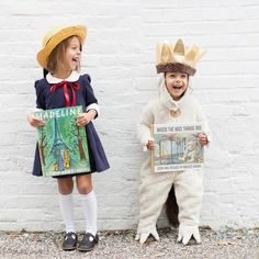 These sibling Halloween costume ideas are sure to spark some creativity! Brother Sister Costumes, Sister Halloween Costumes, Kids Costumes Girls, Creative Halloween Costumes, Baby Costumes, Halloween Fun, Costumes For Sisters, Halloween Fashion, Pottery Barn Kids