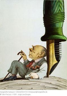 1987 // 1804 : Jorge Luis Borges - Tullio Pericoli