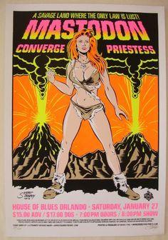 2007 Mastodon & Converge - Silkscreen Concert Poster by Stainboy