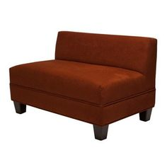 Makenzie Settee Loveseat Color: Cinnabar Carolina Accents