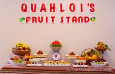 Dessert table Fruit Themed Party