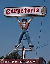Carpeteria Genie (Removed) Whittier, CA This guy was removed in Whittier California, Bakersfield California, Southern California, My Childhood Memories, Great Memories, Whittier Blvd, West Covina, Old Signs, Fotografia