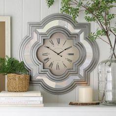 Silver Calcutta Wall Clock | Kirklands