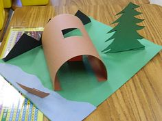Flamingo Fabulous in Second Grade: Paper Powhatan Pop-Up Village
