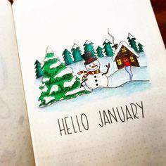 Hello January ☃️❄️#bulletjournal #bulletjournaling #bulletjournalnewbie #bulletjournallove #bulletjournaljunkies #bulletjournaltime #bujo #bujolove #bujojunkies #bujocommunity #bujobeauty #czechbujo #plannergirl #bulletjournalcollection #showmeyourplanner #leuchtturm1917 #fabercastell #planwithme #stabilo #bulletjournaltips #bujoinspire #inspiremeplanner #discoverbulletjournal #january #newyear #2017 #monthlysetup