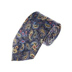 Mens Classic Small Paisley Pattern Designer Neck Tie (YA014) found on Polyvore