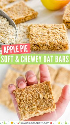 healthy oat bars, apple pie flavour an easy granola bar recipe, oat flap jacks are perfect for kids toddlers and baby led weaning granola bar snackattack babyledweaning 96475617003785029 Baby Food Recipes, Gourmet Recipes, Dessert Recipes, Dinner Recipes, Easy Kids Recipes, Egg Free Recipes, Jelly Recipes, Food Baby, Canning Recipes