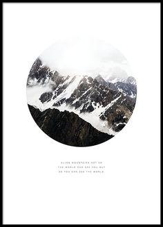 Poster mit Naturmotiv, Schnee