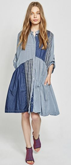 Alembika Denim Patch Dress