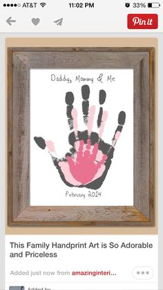 Adorable Family Handprint Art