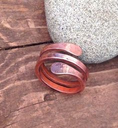 Picture of .:.HAMMERED MEN'S COPPER RING.:.