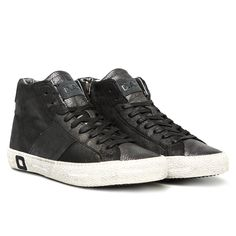 HILL HIGH STARDUST BLACK Autumn Winter 2014 Premium D.A.T.E. Sneakers Collection www.date-sneakers.com