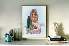 Mermaid in a Can Print - Do you love the ocean - Catch a mermaid print – Valfré #ValfrePinToWin