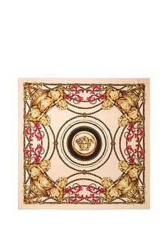 Ganimede Print Silk Scarf