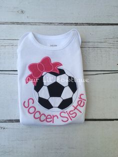 Soccer Shirt - Raglan Soccer Bow Shirt - Personalized Shirt - Soccer Sister Shirt - Toddler - Baby - Soccer Sister - Bow - Raglan Soccer -Bow  by OurLilBowtique on Etsy