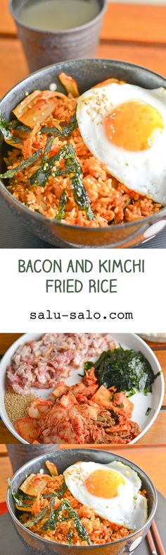 bacon kimchi fried rice bacon and kimchi fried rice more unli rice ...