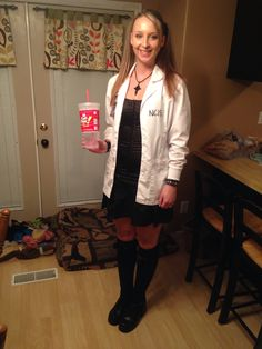 My Abby Sciuto Halloween Costume!! It turned out awesome!! I got everything but the corset & stockings from the thrift store!!