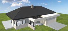 Projekt domu HomeKoncept-38 105,66 m2 - koszt budowy 250 tys. zł - EXTRADOM Bungalow, House Ideas, Nice, Outdoor Decor, Top, Home Decor, House Beautiful, House, Decoration Home