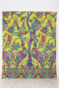 Peacocks and Trees Tapestry, $39.00