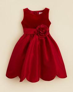 Kleinfeld Pink Girls' Giada Velvet Bodice Dress - Sizes 4-6X