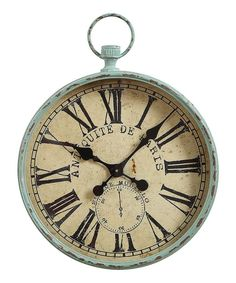 This Iron Pocket Watch Wall Clock is just the piece you've been searching for to tie your room's distinctive decor together. Boasting a unique pocket watch design, vintage-inspired styling, and aged finish, this decorative clock promises to please. French Farmhouse Decor, Rustic French, Antique Farmhouse, French Country, Farmhouse Style, Cottage Farmhouse, French Cottage, Country Style, Rustic Wall Clocks