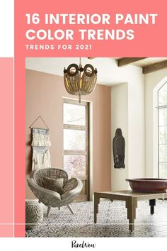 This year, we're seeing color trends skew towards warm, earthy tones and mood-boosting hues that make us feel at ease (psst: cozy-comfort seems to be the ultimate design trend for fall 2021). Here, find everything you need to know about gray's exit from the design scene (plus 16 trendy interior paint colors to bring into your home instead). Color Trends, Design Trends, Home Instead, Trending Paint Colors, Favorite Paint Colors, Interior Paint Colors, Home Design Decor, Comfort Colors, Trendy Colors
