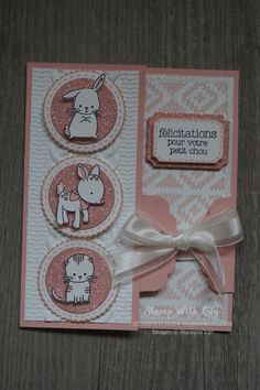 """/ """"Made with love"""" stamp set from Stampin'Up! Baby Boy Scrapbook, Kids Cards, Baby Cards, 21st Birthday, Birthday Cards, Spy Party, Photo Album Scrapbooking, Love Stamps, Homemade Cards"""