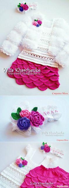 """* Nastavení """"růže"""" - to vše v prolamované ... (Crochet) - doma maminky"""