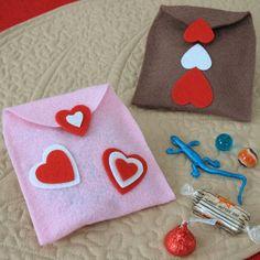 Sobre de golosinas para San Valentin