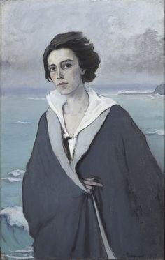 Romaine Brooks, Au Bord de la Mer (Self-Portrait), 1914, oil on canvas, 105 x 68 cm, (Musée National d'Art Moderne Centre Georges Pompidou, Paris)
