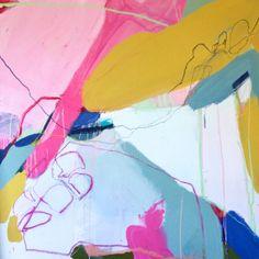 BREATHING THINGS | Taylor O. Thomas | #Art #Writing #Visual Stories #pink #abstraction #lines #painting #contemporaryart