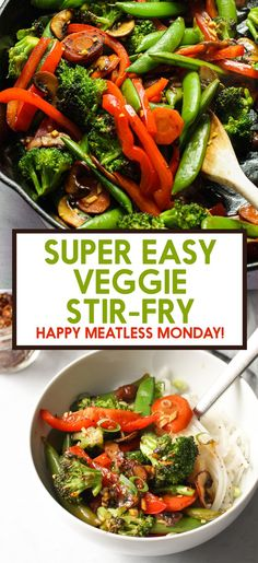 Veg Stir Fry, Vegetarian Stir Fry, Asian Stir Fry, Healthy Stir Fry, Easy Stir Fry, Vegetarian Recipes, Healthy Recipes, Stir Fry Vegetables, Healthy Food