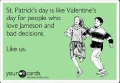 i'm pretty sure drunken skipping is mandatory on st. patrick's day.