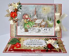 OOAK handmade Mo Manning Christmas Angel Card by MyAdoredAdorables, £10.50
