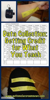 Autism Classroom News: 3 Tools for Data Collection: Getting Credit for What You Teach