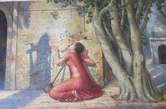 Meera Ji's all time madness or true love towards her diety – Krishna. Radha Krishna Love Quotes, Lord Krishna Images, Radha Krishna Pictures, Little Krishna, Cute Krishna, Krishna Leela, Krishna Radha, Radha Rani, Hanuman