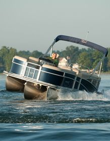 Pontoon Boat For Leisurely Exploring And Or Partying Party Boats
