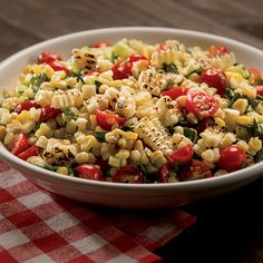 BBQ Corn Salad with fresh, grilled sweet corn.