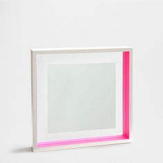 SQUARE LACQUERED WOOD MIRROR