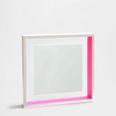SQUARE LACQUERED WOOD MIRROR - Mirrors - Decoration | Zara Home