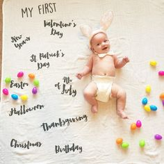 Combo Pack Monthly Milestone Blanket and Pre Order My Firsts Blanket