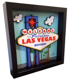 A personal favorite from my Etsy shop https://www.etsy.com/listing/253952277/las-vegas-sign-3d-pop-art-gambling