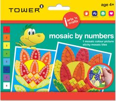 This educational activity teaches children about colours and numbers. The mosaic tiles are adhesive which prevents mess and fuss. Office Organisation, Color Tile, Educational Activities, Mosaic Tiles, Teaching Kids, South Africa, Adhesive, Numbers, Arts And Crafts