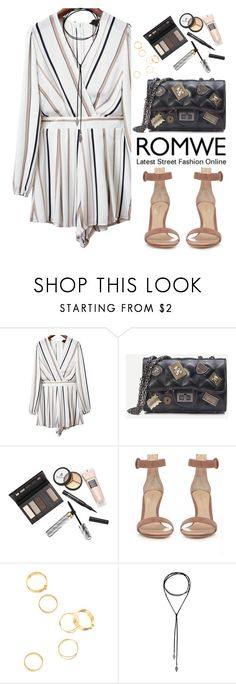 """""""Romwe"""" by oshint ❤ liked on Polyvore featuring Borghese, Gianvito Rossi, vintage, awesome, beautiful, romwe, wonderful and romper"""