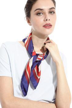 Girls Necktie//Sash Tie//Headdress Brahman Cow Floral Skinny Scarf