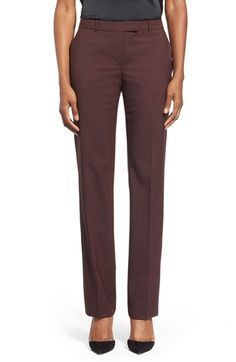 BOSS 'Tamea2' Straight Leg Trousers available at #Nordstrom