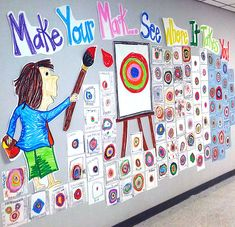 """Best 12 The Dot Art Project – """"Mark and see where it leads you"""" – SkillOfKing.Com Best 12 The Dot Art Project – """"Mark and see where it leads you"""" – SkillOfKing. School Murals, Art School, The Dot Book, Dot To Dot Books, Art Bulletin Boards, International Dot Day, School Displays, Collaborative Art, Book Projects"""