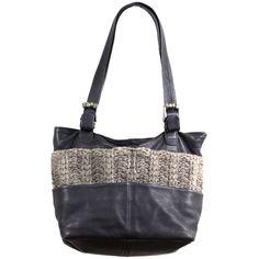Sac cuir noir légèrement grainé très souple, laine et alpaga par Catherine  Parra 9ea6e616b39b