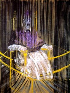 """Study after Velázquez's Portrait of Pope Innocent X"" by Francis Bacon (1909-1992)"