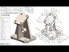 SolidWorks Tutorial for beginners Exercise 19 Mechanical Engineering Design, Mechanical Design, 3d Drawings, Drawing Sketches, Autocad Isometric Drawing, Solidworks Tutorial, Autodesk Inventor, Technical Drawing, Sketch Design